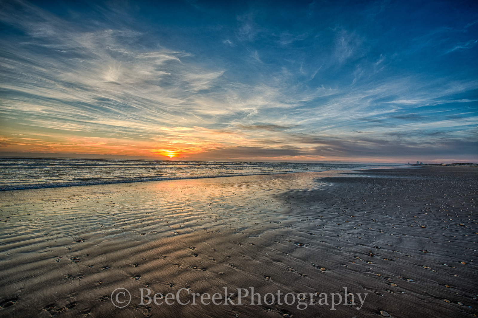 Sunrise atSouth Padre Beach- We captured this Sunrise on South Padre island and I like the whispy clouds and...