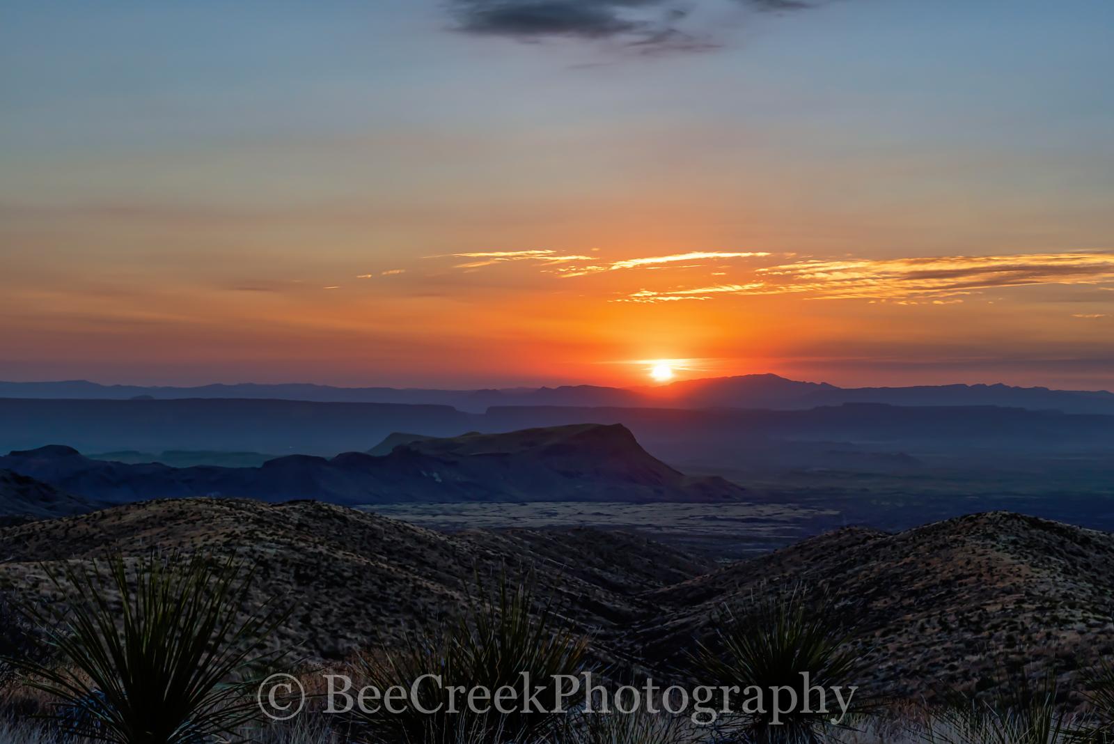 Mountains, National Park, Santa Elena Canyon, Sotal Vista Overlook, big bend, desert, landscape, sotals, sunset, photo