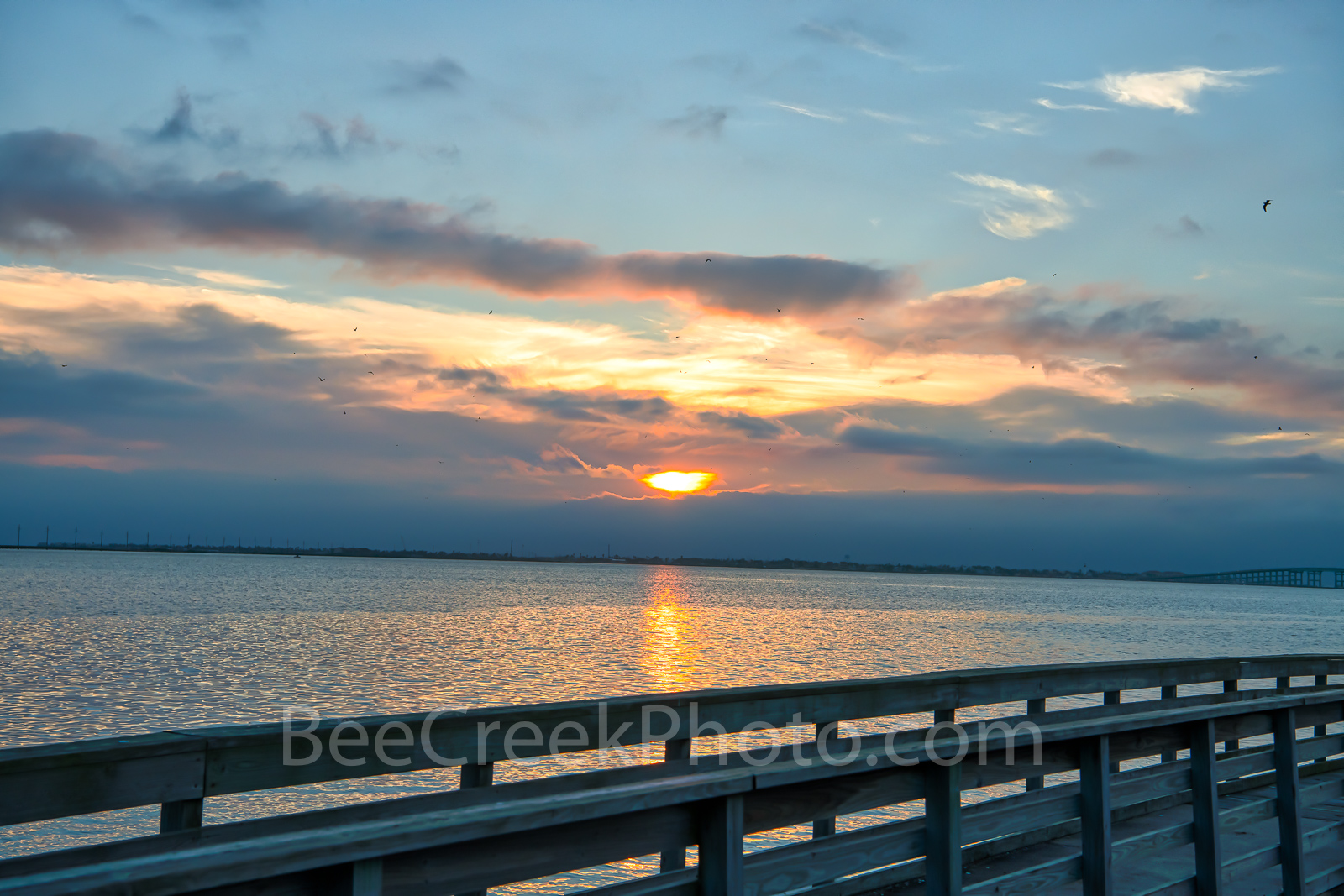 Sunset Over Laguna Madre-Sunset over laguna madre from south padre Island right before it goes into the cloud. &nbsp...