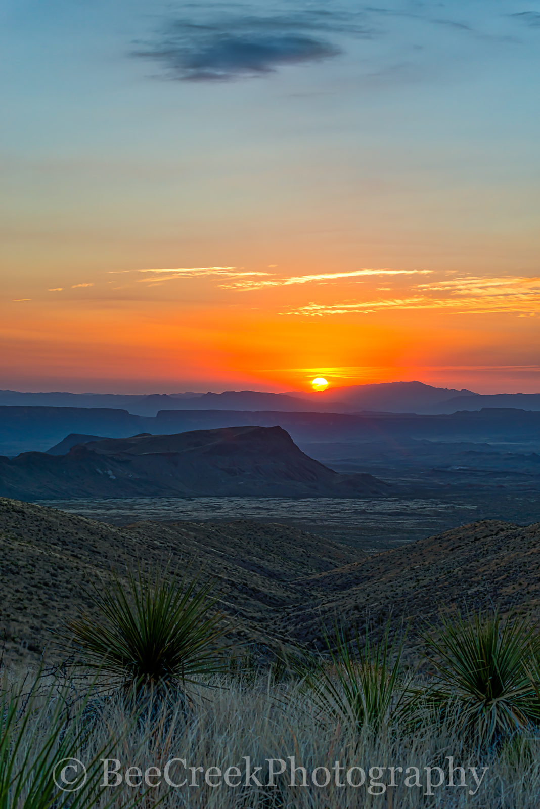 Big Bend National Park, Chihuahuan Desert, Mountains, Santa Elena Canyons, Sierra Ponce, Sotal Overlook, landscape, sunset, vertical, photo