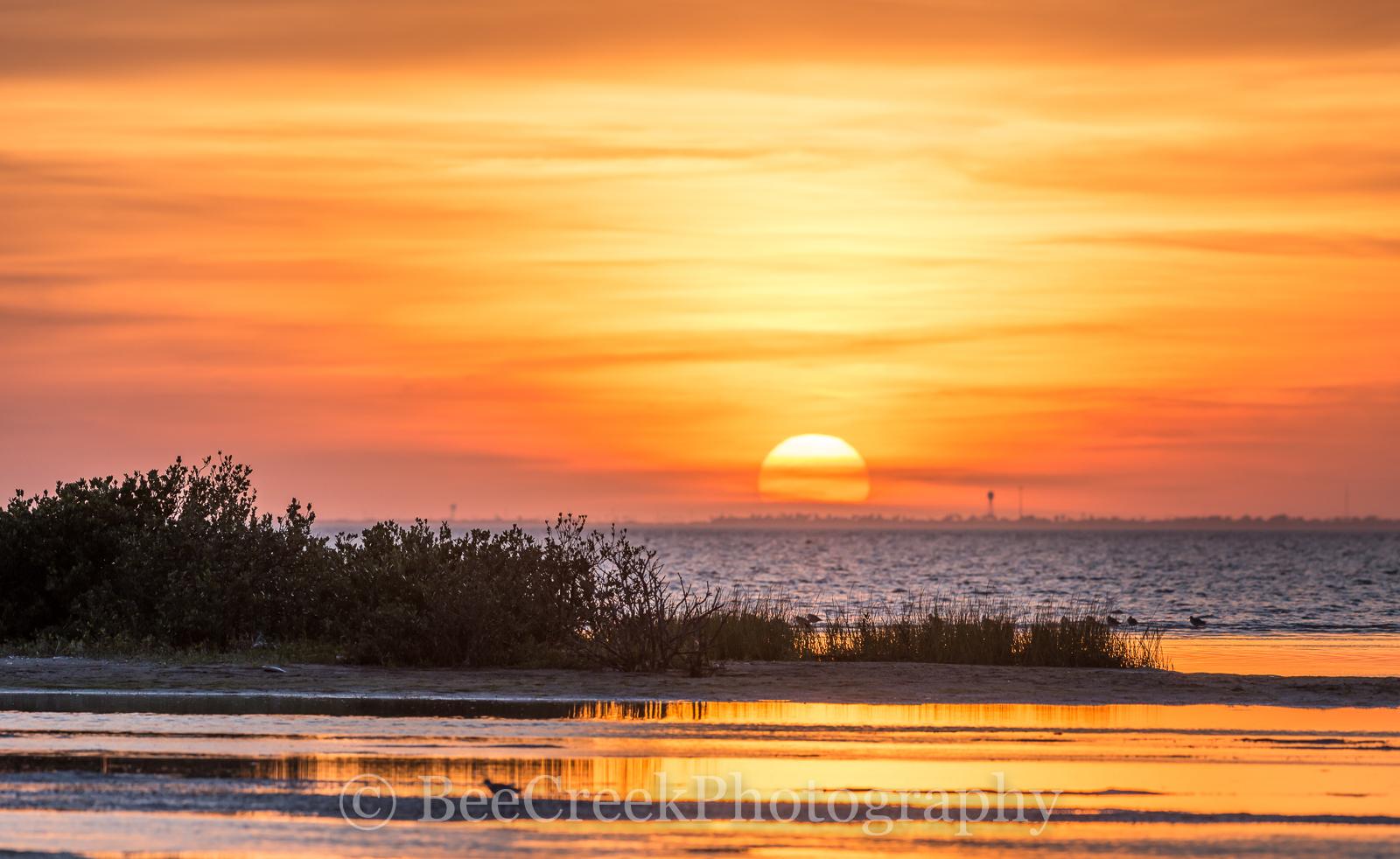 South Padre Island, Sunset, landscape,  Laguna Madre, Sunset over south padre island, bay, beach, coast, coastal landscapes, coastal plains, dunes, images of South Padre, island, photos of South Padre, photo
