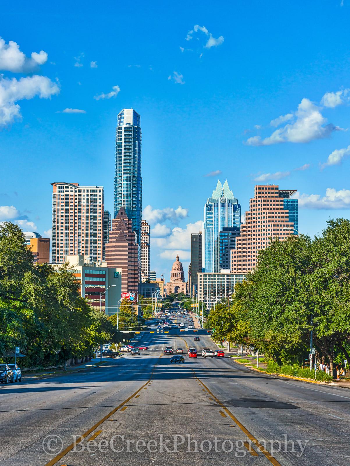 Austin, Capital, Capital of Texas, Congress ave, State Capitol, Texas Capital, Texas skyline, austin tx skyline, buildings, city, city scene, cityscape, cityscapes, congress, congress ave image, congr, photo