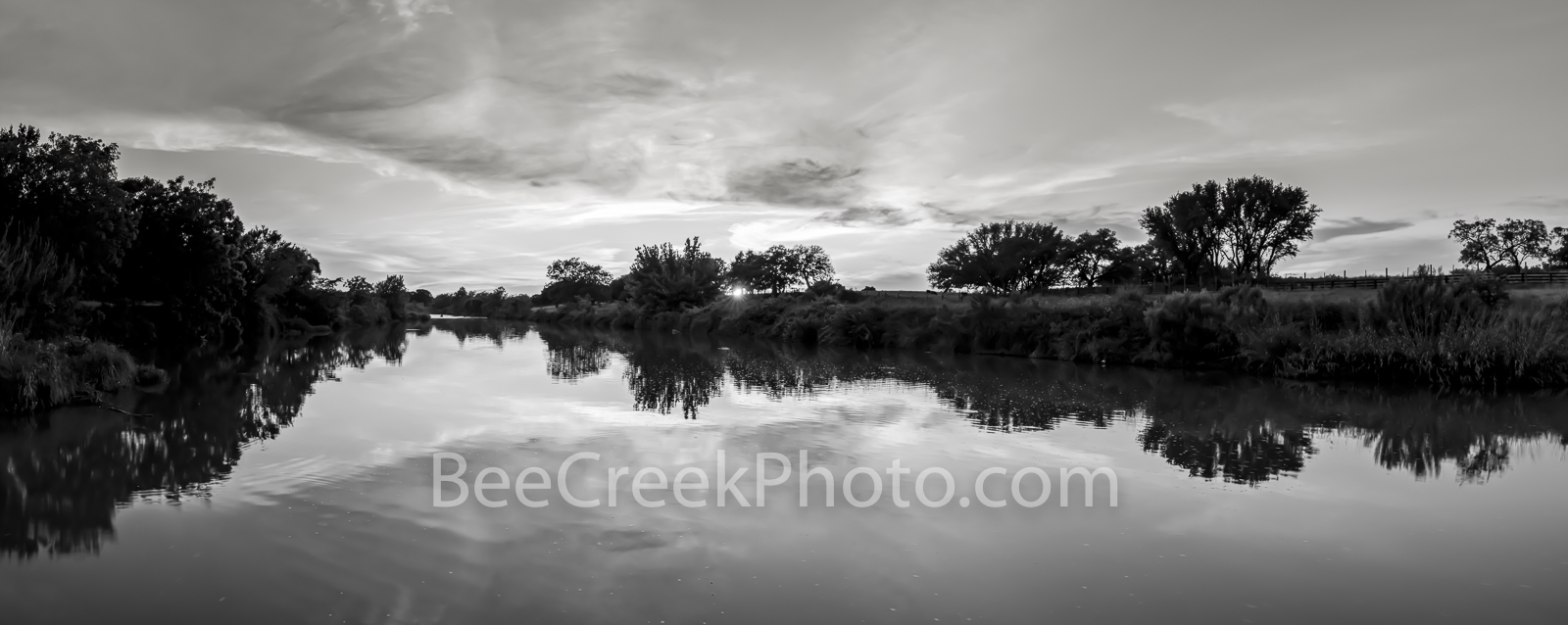 texas hill country, black and white, b w , new upload, hill country, sunset, pedernales river, texas landscape, panorama, pano, water, river, trees, rurals, colorado river, central texas,  texas. rura, photo