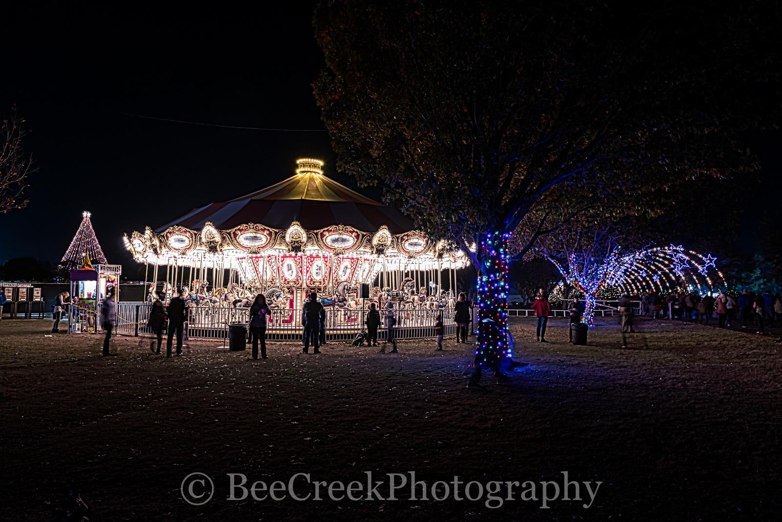 Austin, Christmas, Zilker Christmas tree, carnaval, carousel, cityscape, fair, festival, rides, trail of lights, austin skylines, austin cityscapes, photo