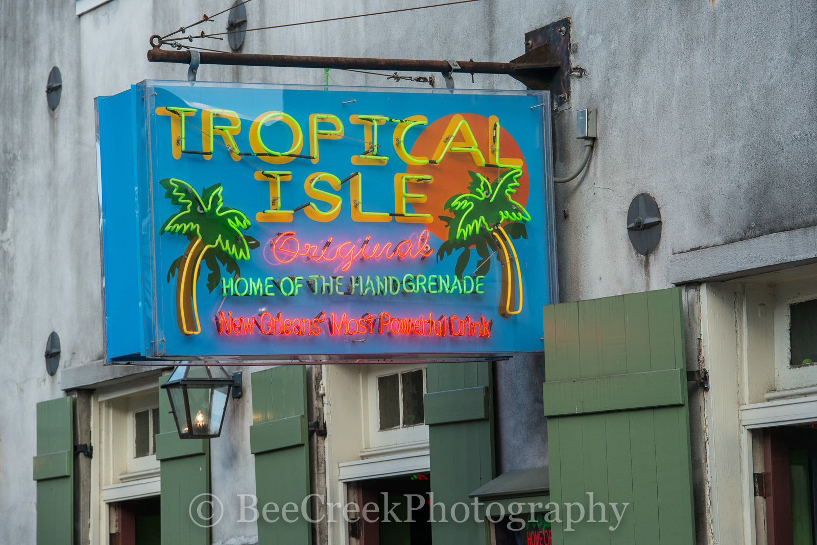 Bourbon Street, French Quarter, New Orleans, bars, drinks, hand grenade, live music, neon, neon signs, restaurants, signs, Tropical Isle Neon, New Orleans cityscapes, , photo