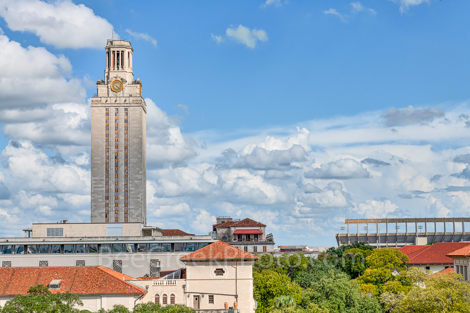 Austin, UT Tower, Stadium, Darrel Royal Stadium, cityscape, landmark, city, Austin cityscape, images of Austin, images of texas,, photo