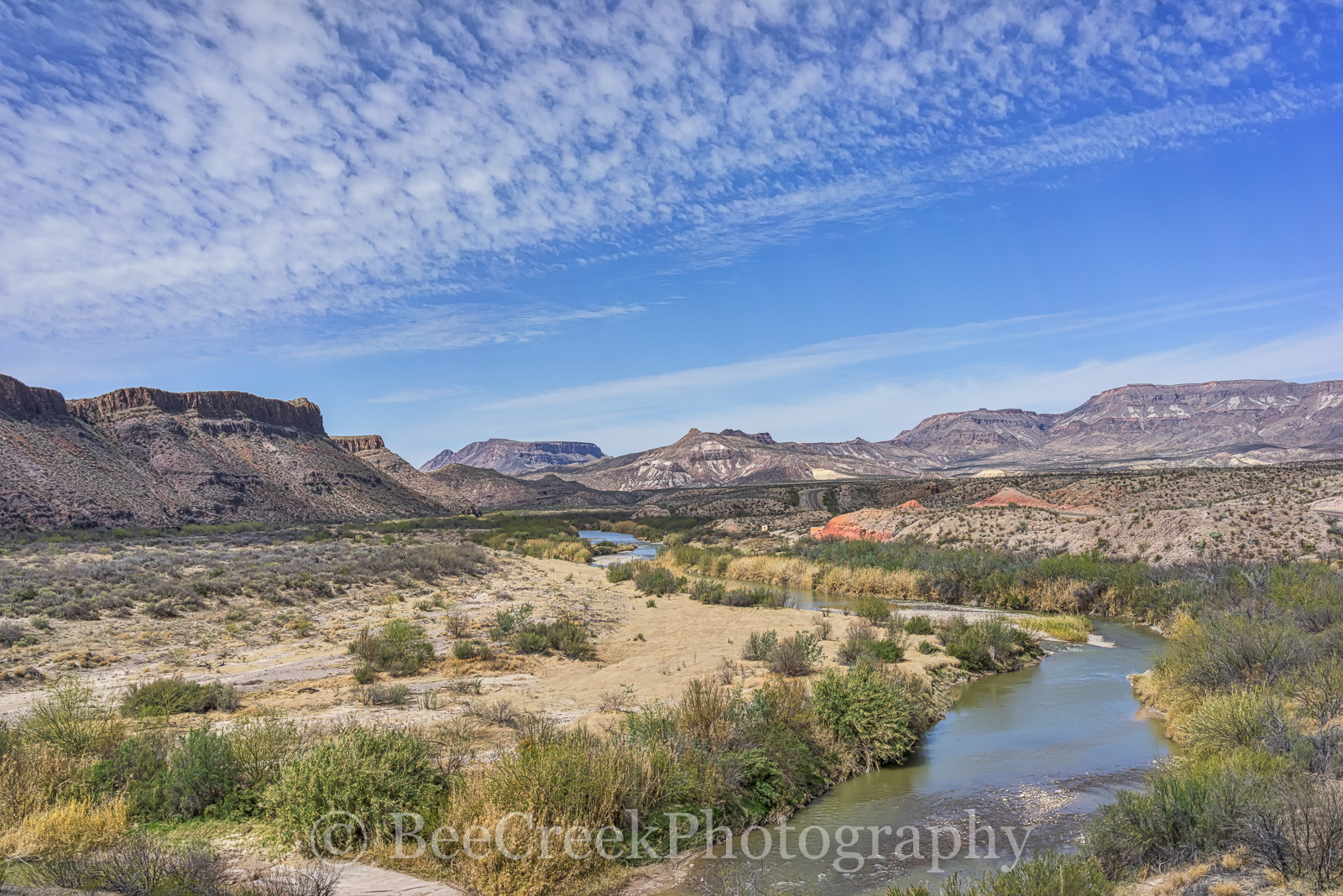 Big Bend State Park, Rio Grande river, aerial, landscape, mexico, mountians, river road, us, water, Mexico, photo