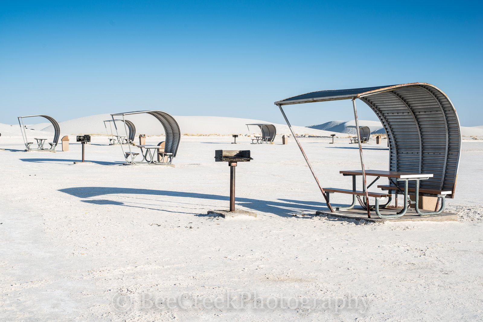 White Sands,  picnic area, Alamagorda nm, New Mexico, New Mexico Parks, Picnic tables at, Picnic tables with blue skys, White Sand National Monument, White sands, beautiful photos of white sands, dune, photo
