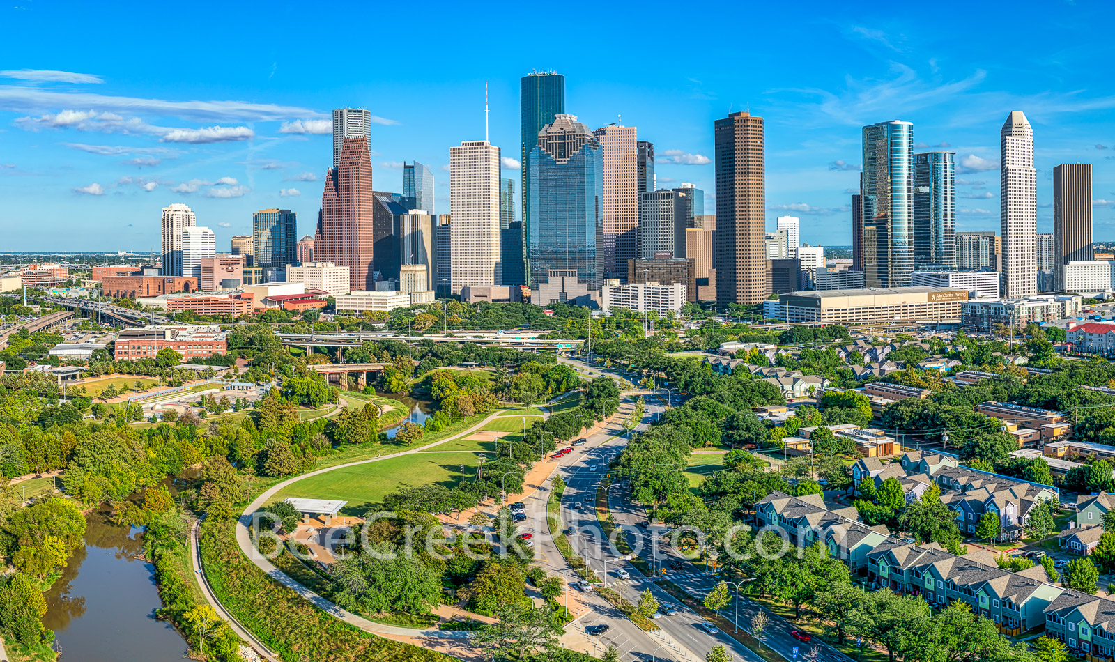 Houston skyline pictures, Houston skyline photos, images of houston skyline, Aerial Houston skyline, aerial,  Houston skyline, cityscape, cityscapes, city, park, skylines, downtown, skyscrapers, buffa, photo