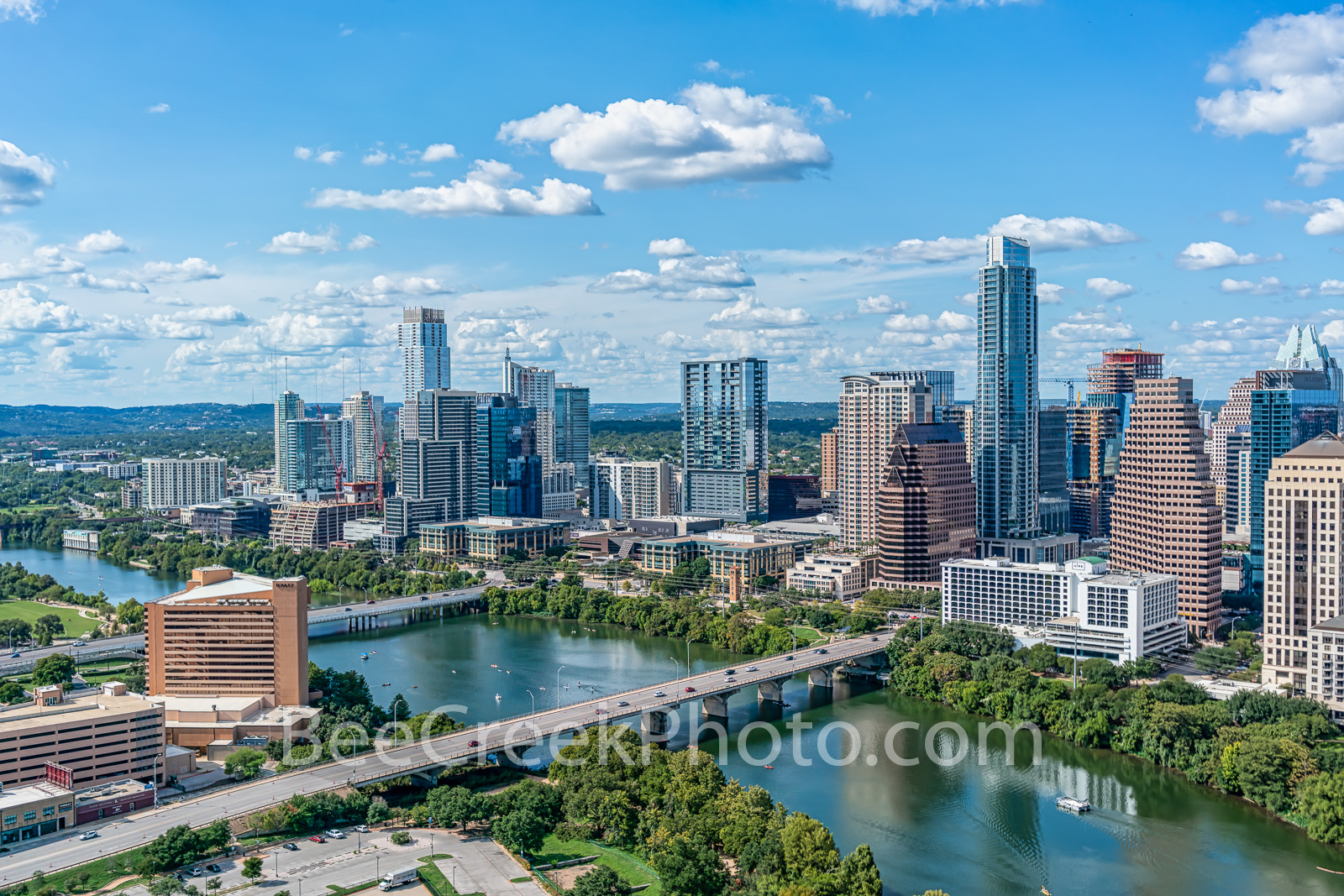 texas, austin skyline, austin, austin downtown, downtown austin, austin texas, austin tx,skyscraper, high rise, buildings, aerial, usa, city of austin,  pano, panorama, city of austin, lady bird lake,, photo