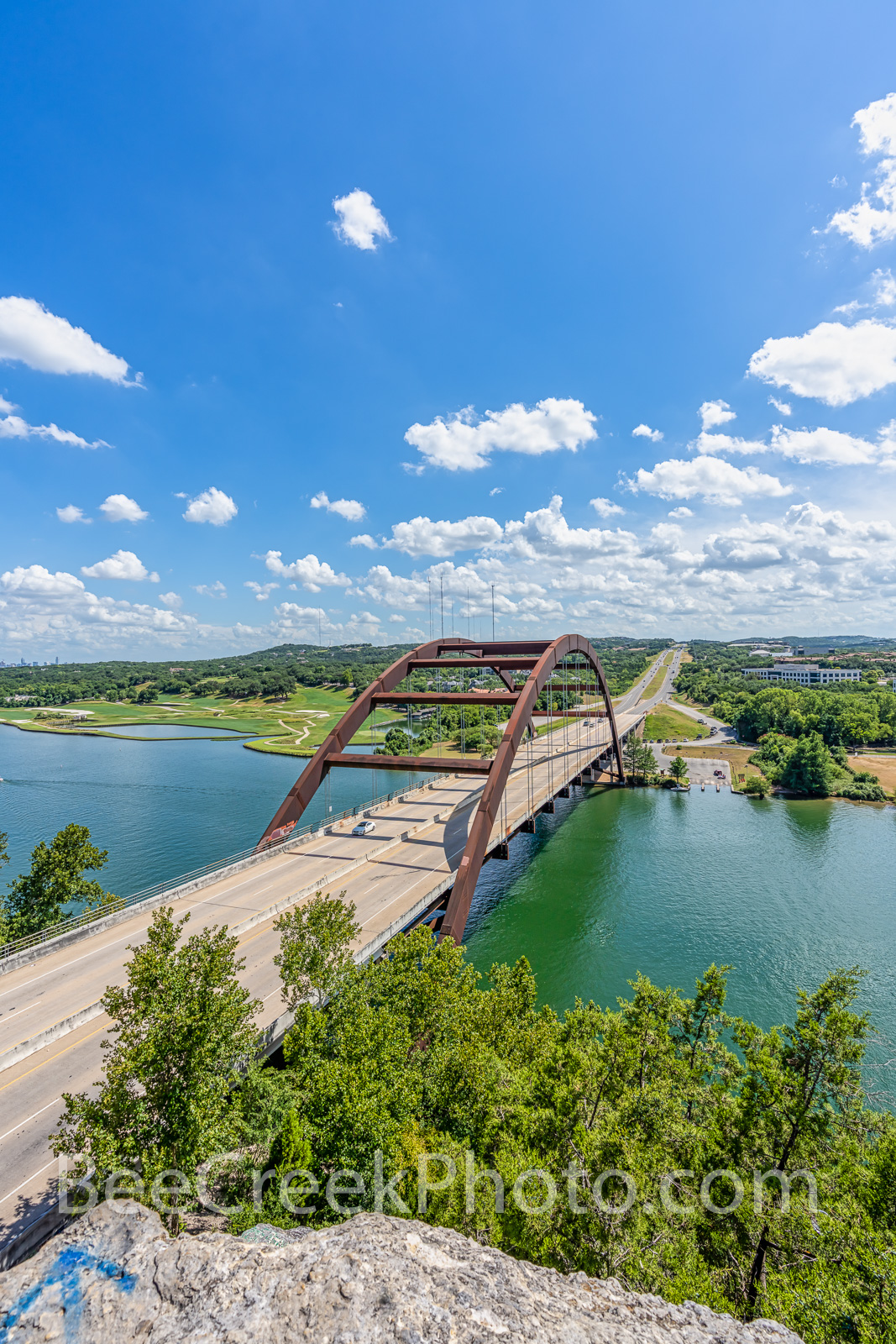 Austin Texas, 360 Bridge, Pennybacker Bridge, 360 hwy, texas hill country, lake austin, downtown austin, city of austin, hill coutry, Capital of Texas Highway, pennybacker overlook,Percy V. , vertical, photo