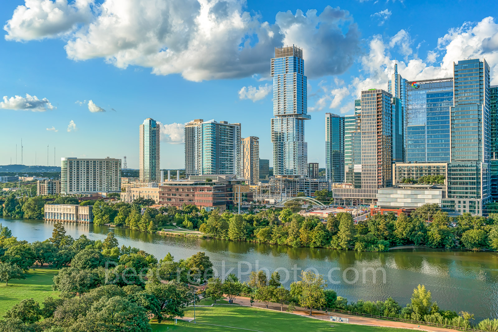 Austin Aerial Park View - Another aerial look at the Austin skyline from the Vic Mathias Shores along the Butler hike an bike...
