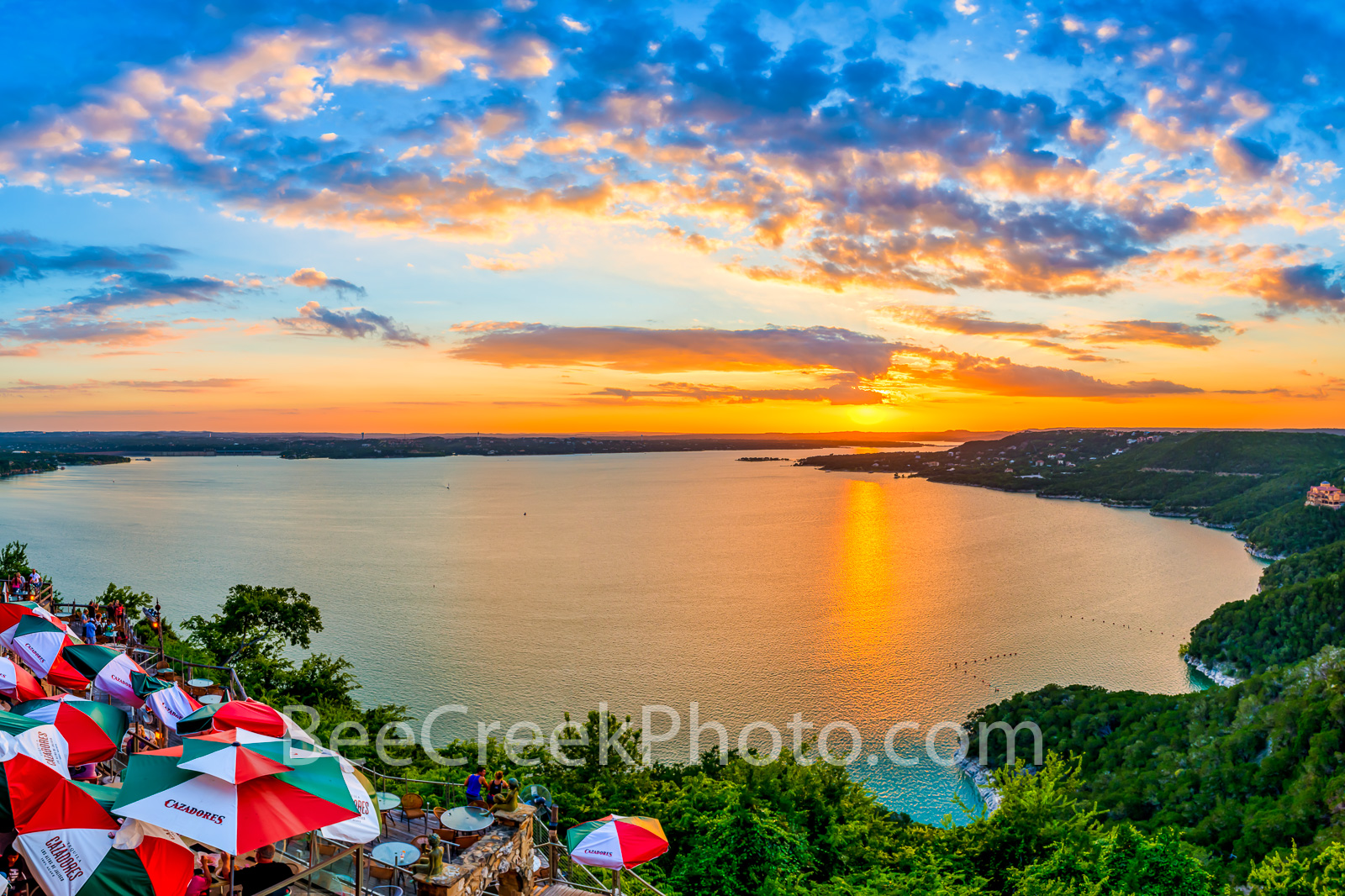 Austin Oasis Sunset - One more image of this wonderful sunset at the Oasis on Lake Travis. Lake Travis is outside of Austin,Texas...