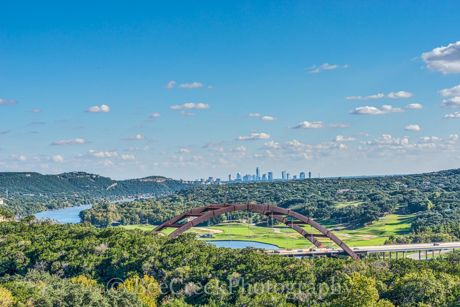 360 overlook, Austin, city, skyline, bridge, penny backer bridge, Austin 360 bridge, urban, river, landscape, water, Texas, downtown, scenic, Pennybacker Bridge, Austin, city landscapes, bridge, photo, photo