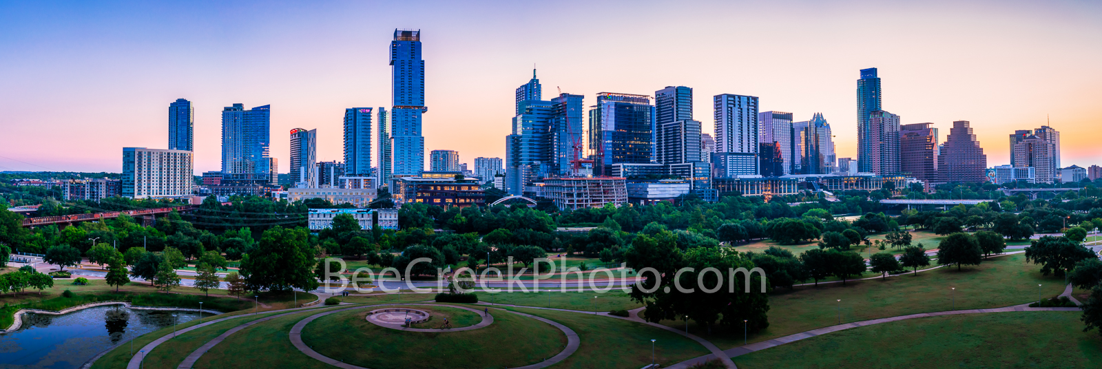 austin skyline, austin, sunrise, dawn,  austin texas, austin downtown, texas, austin tx, downtown austin, texas capitol, south, town lake, lady bird lake, colorado river, city of austin, photo