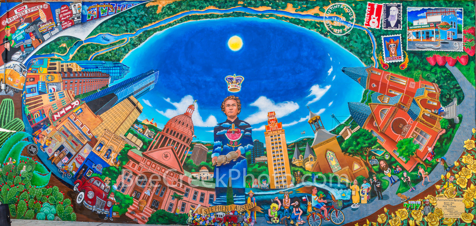 Austin Texas Austintatious Mural-  The  Mural called Austintatious is located off of Guadalupe or the Drag as many call it. In...