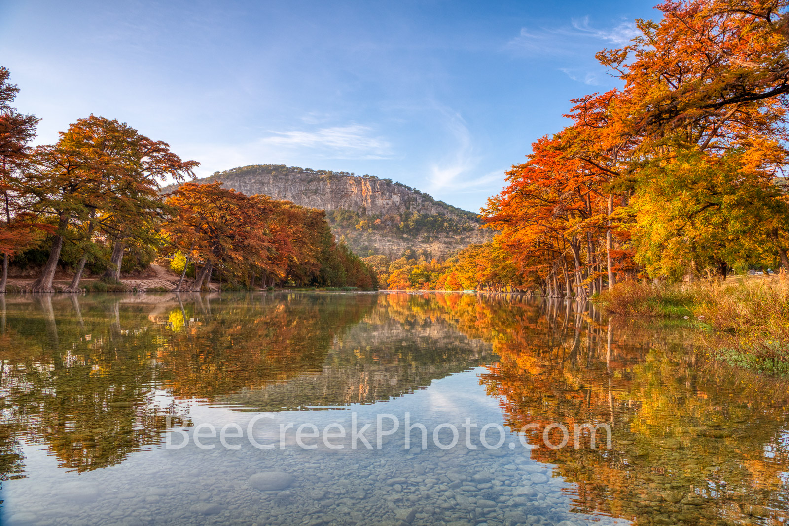 Autumn in the Texas Hill Country - Autumn in the Texas Hill Country along the Frio river as it flow through Garner State Park...