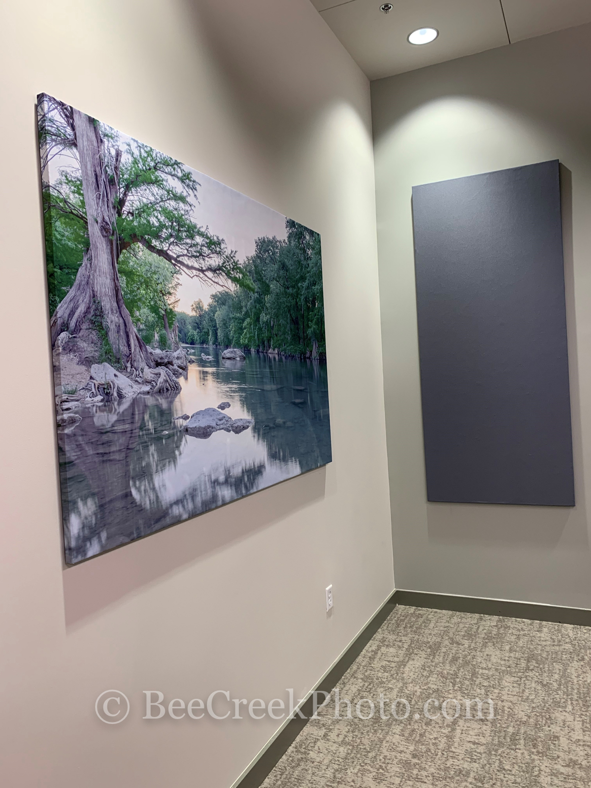 This is a large canvas print installed at a corporate customer's office,  the print is 6'x4'.  Customer provided image.