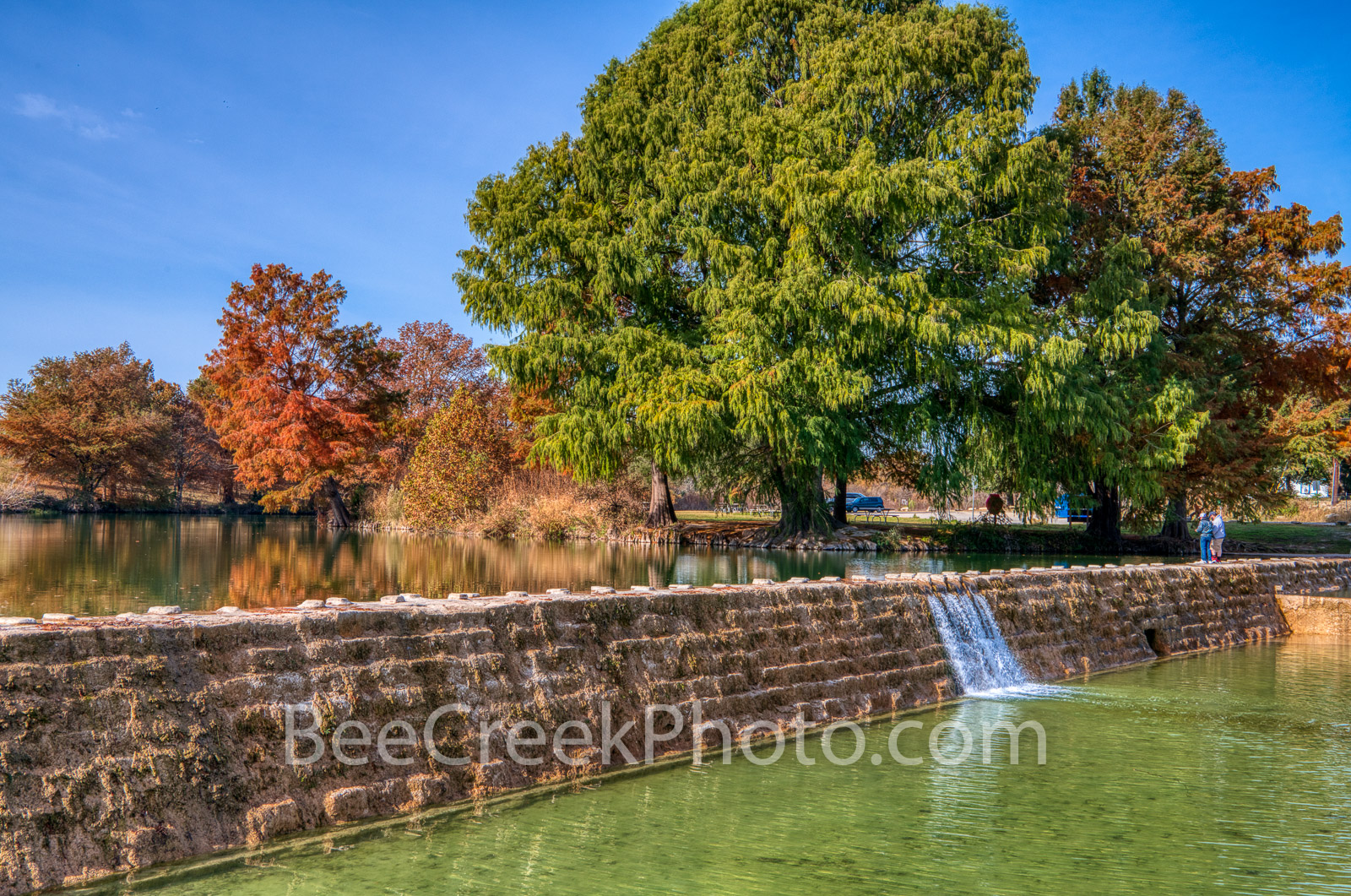 Blanco River Dam - The blanco river dam as the water flows into a lower pool of water on its way downstream.  This was taken...