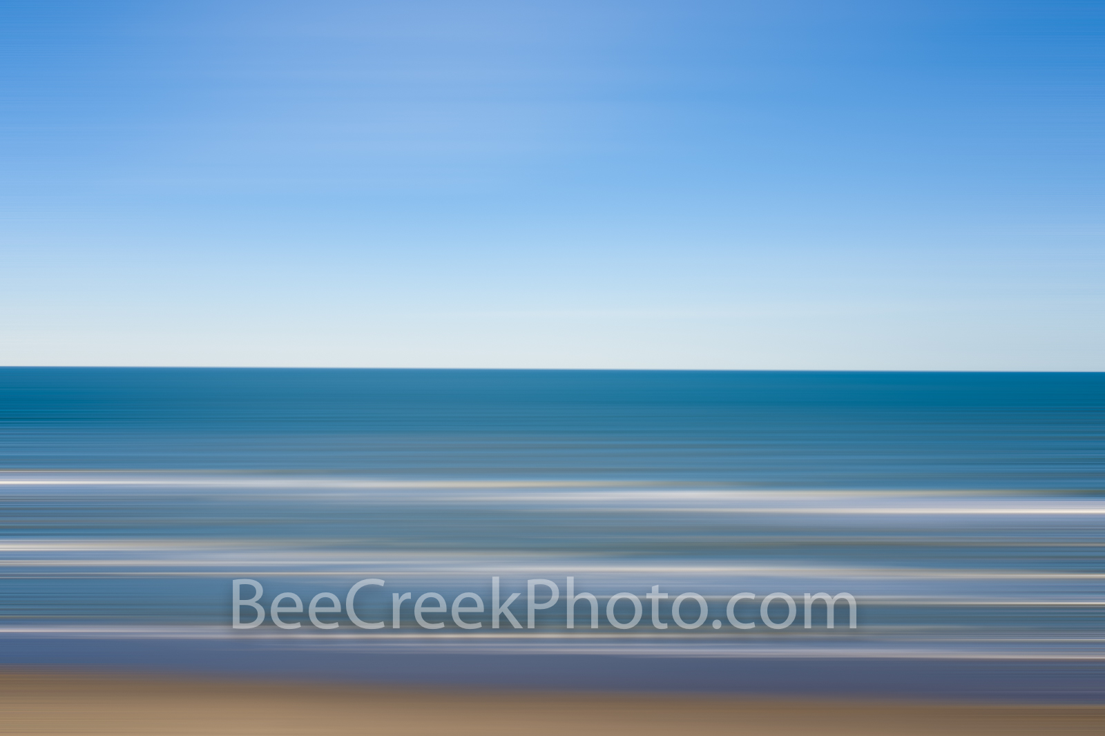 blue ocean, wave, waves, seascape, blur, motion blur, abstract, water, ocean, blue sky, blue water, sea, sandy beach, serene, gulf of mexico, travel, adventure,, photo