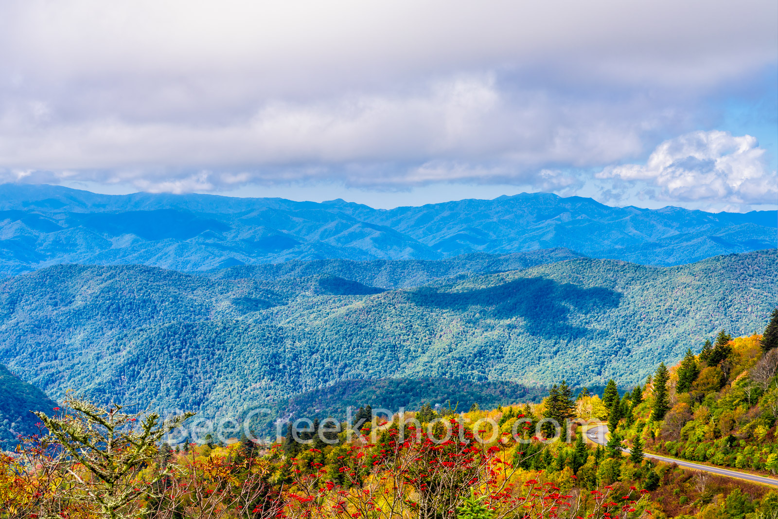 Blue Ridge Parkway Vista - Blue Ridge Parkway vista in the Smoky Mountain in fall was a spectacular site to see. The colorful...