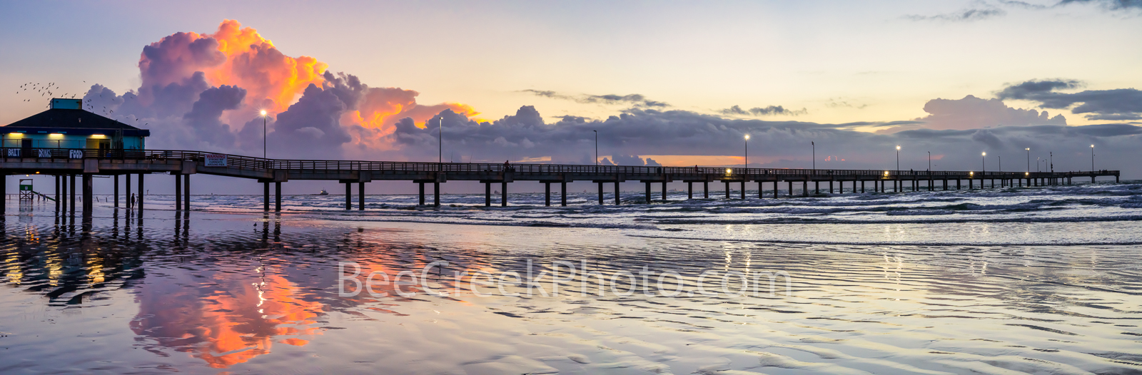 texas, port aransas, tx, pier, caldwell pier, texas coast, gulf of mexico, sunrise, sunset, port a, pelicans, clouds, orange, pink, color, beach, fishing, dawn, tide, surf, central texas coast, reflec, photo