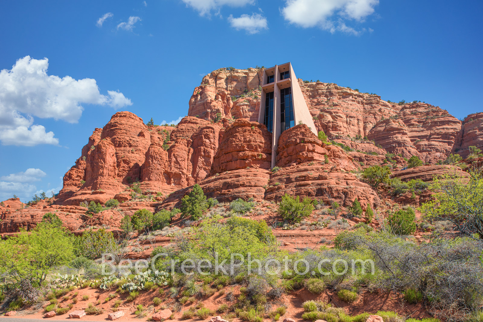 Chapel of the Holy Cross -  Its not often you see a structure built into the side of a mountain but the Chapel of the Holy Cross...