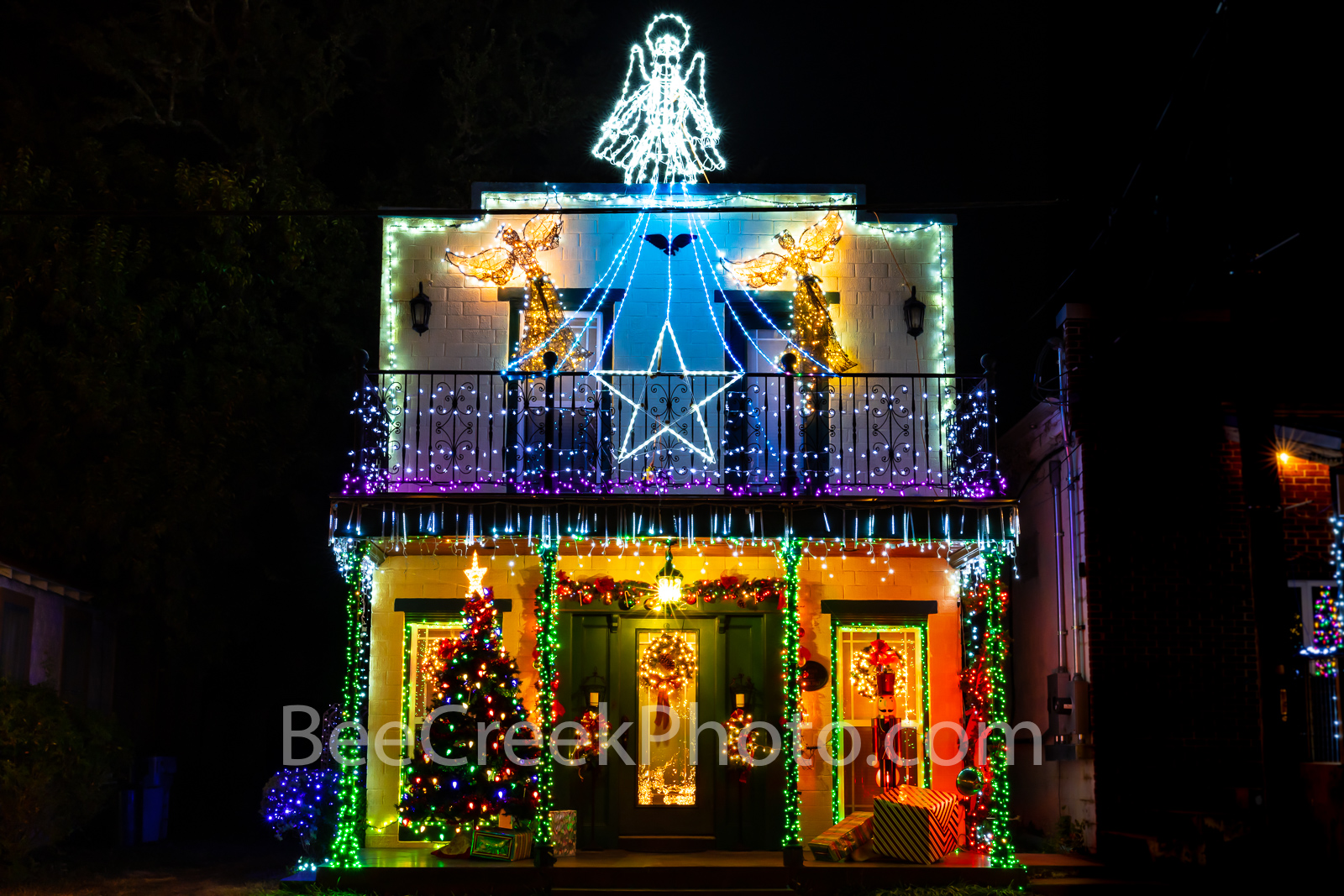 Christmas Decorations in Johnson City - This shop was located across the street from the Blanco Country courthouse in Johnson...