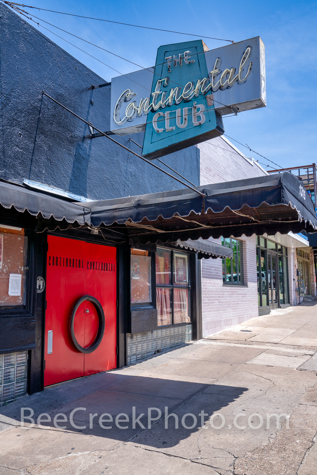 Continental Club Austin Vertical 2 - This is a view of the iconic Continental Club in downtown Austin on Congress in South Congress...