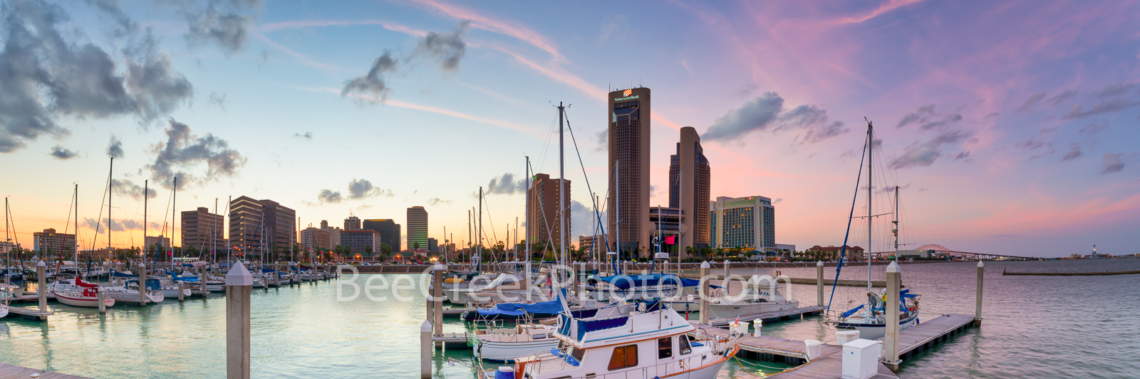 Corpus Christi Skyline Dusk - Corpus Christi is a city of over 500,000 people and got it name from a spanish explorer in 1519...