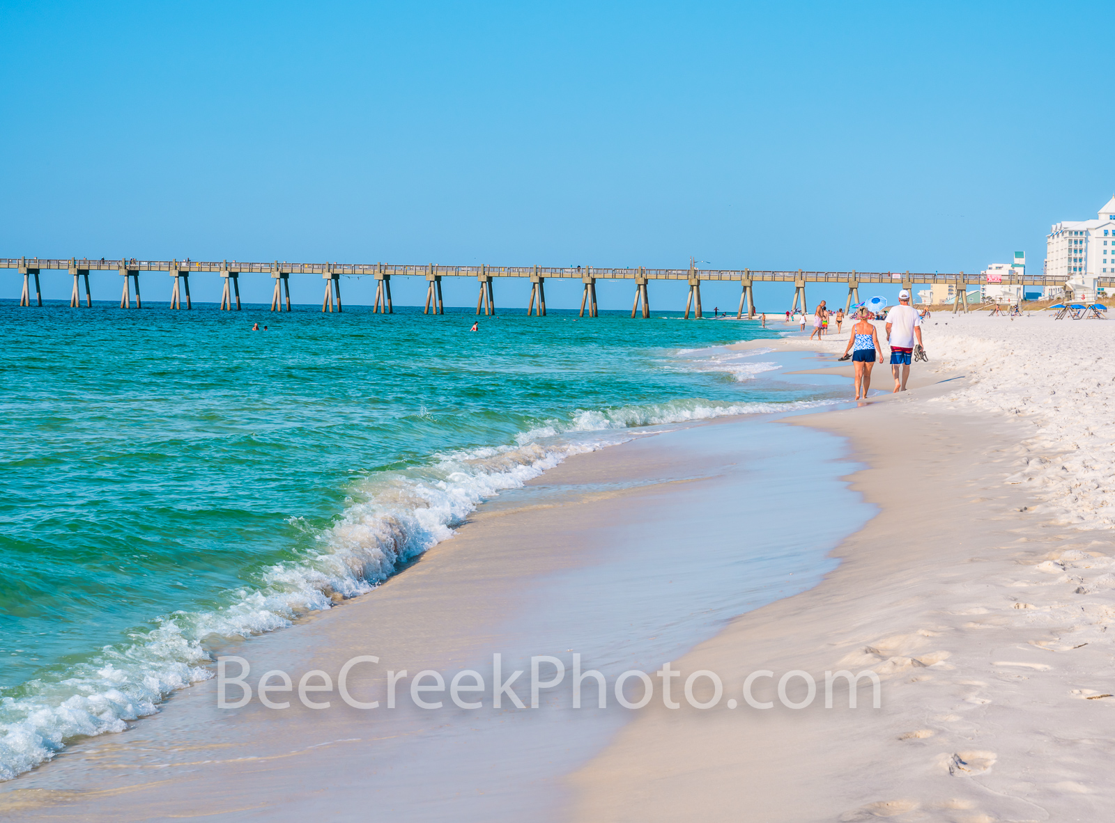 Pensacola beach, emerald waters, white sands, Pensacola, the gulf, gulf islands national seashore. Pensacola, florida panhandle, the gulf, seashore, seascape,
