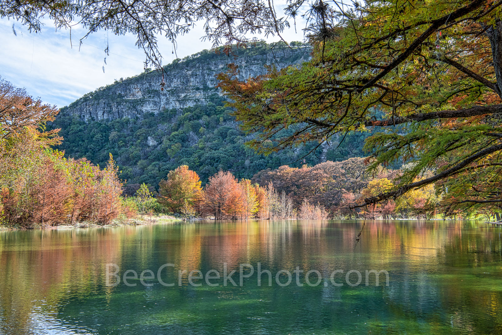 Garner State Park, Frio river, autumn, foliage, Texas landscape, texas hill country, fall, fall colors, Old Baldy, canvas, prints, Texas, landscape, autumn, , photo