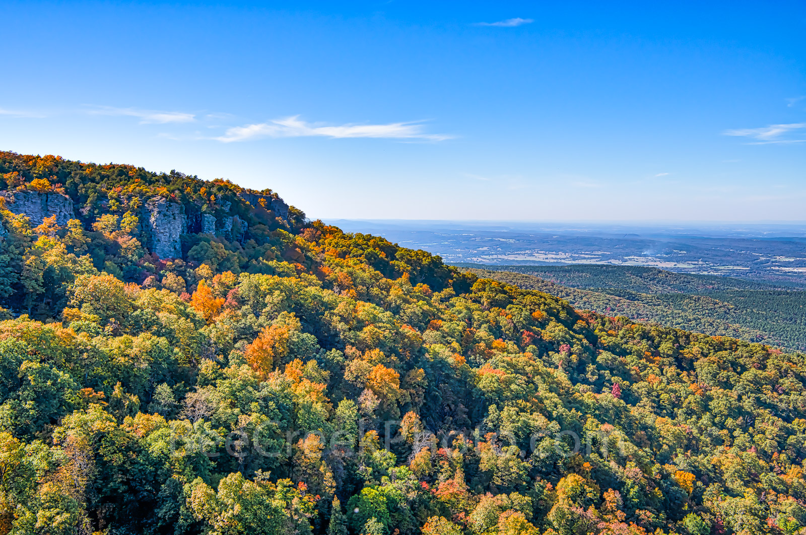 fall, overlook, autumn, october, mountain, color, colorful, orange, reds, green, forest, arkansas, USA, United States, beauty, nature, ozarks, cameron bluff, Ouachita National Forest, fall scenery,, photo