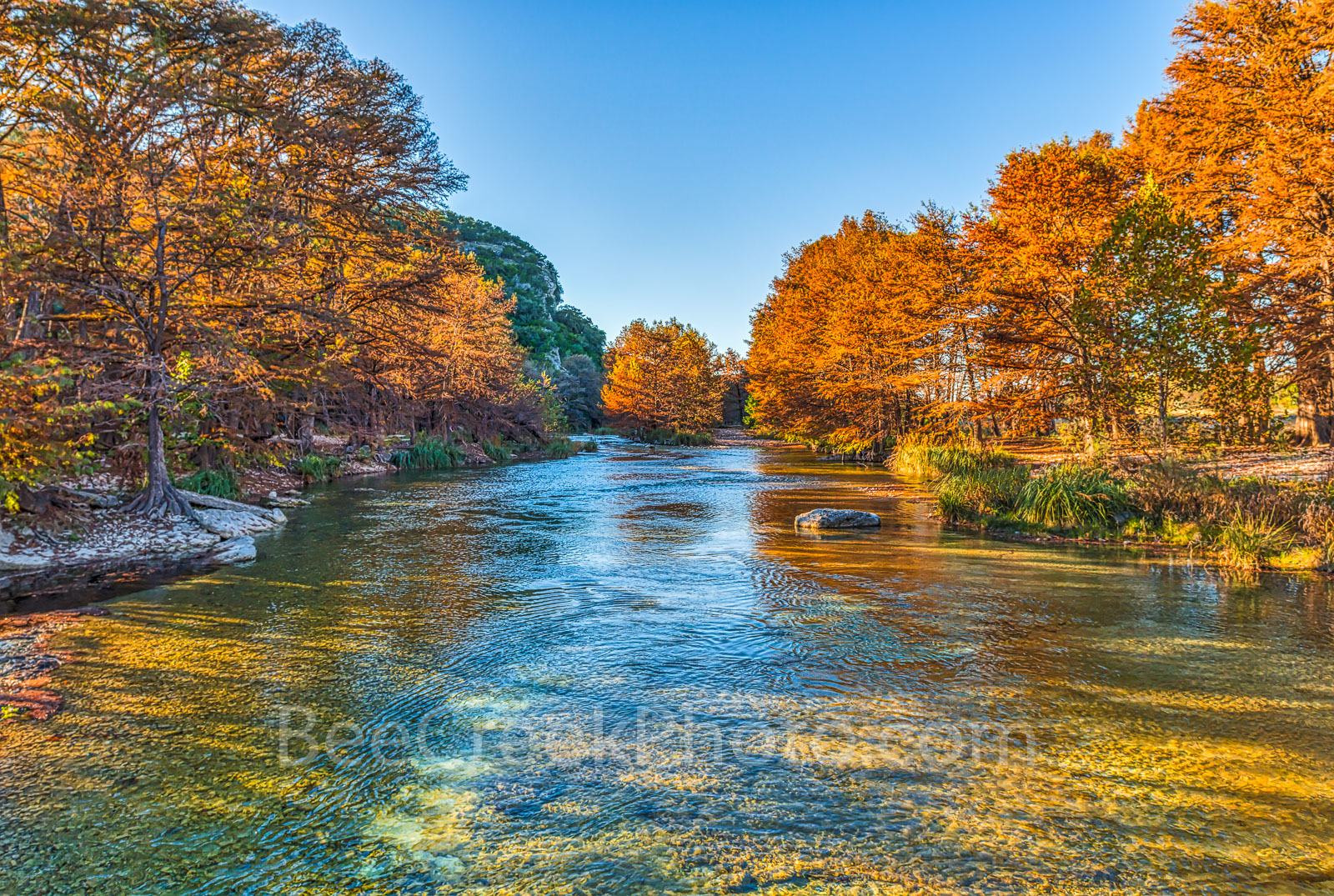 Concan, Hill Country, River, clear, colors, cool, cypress, fall, fall in texas, fall landscapes, flowing, images of Texas, landscape, landscapes, orange, photos of Texas, pictures of texas, riopples,, photo
