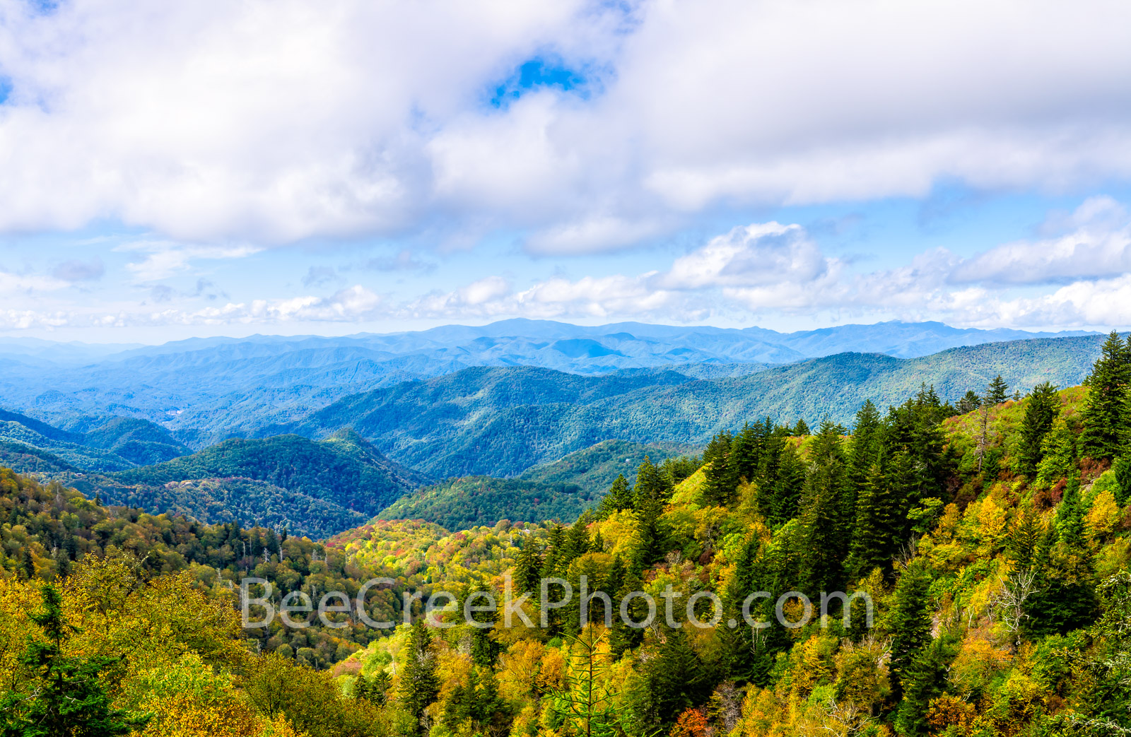 Fall Smoky Mountain Scenery - Off the Blue Ridge Parkway you can find some incredible scenery.  I can't tell you exactly where...