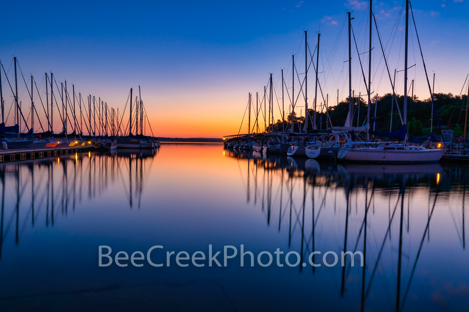 First Light at Lake Travis - We capture the first light over this marina on Lake Travis outside of Austin Texas. The water was...