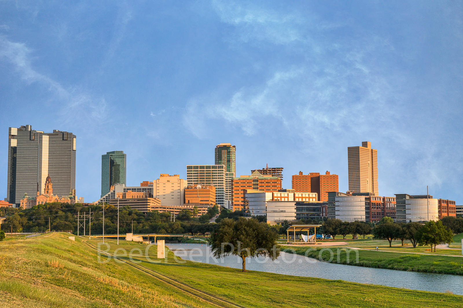 Fort Worth, Skyline, Trinity river, downtown, cityscape, city, county courthouse, Burnet Tower, Tarrant County College, The Tower,