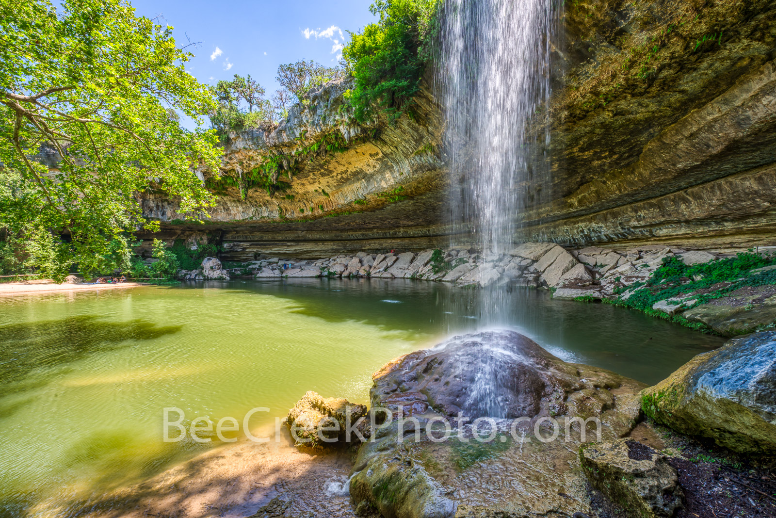 Hamilton Pool Waterfall - We capture the Water Fall at Hamilton Pool which is located out side of Austin Texas in the Hill Country...