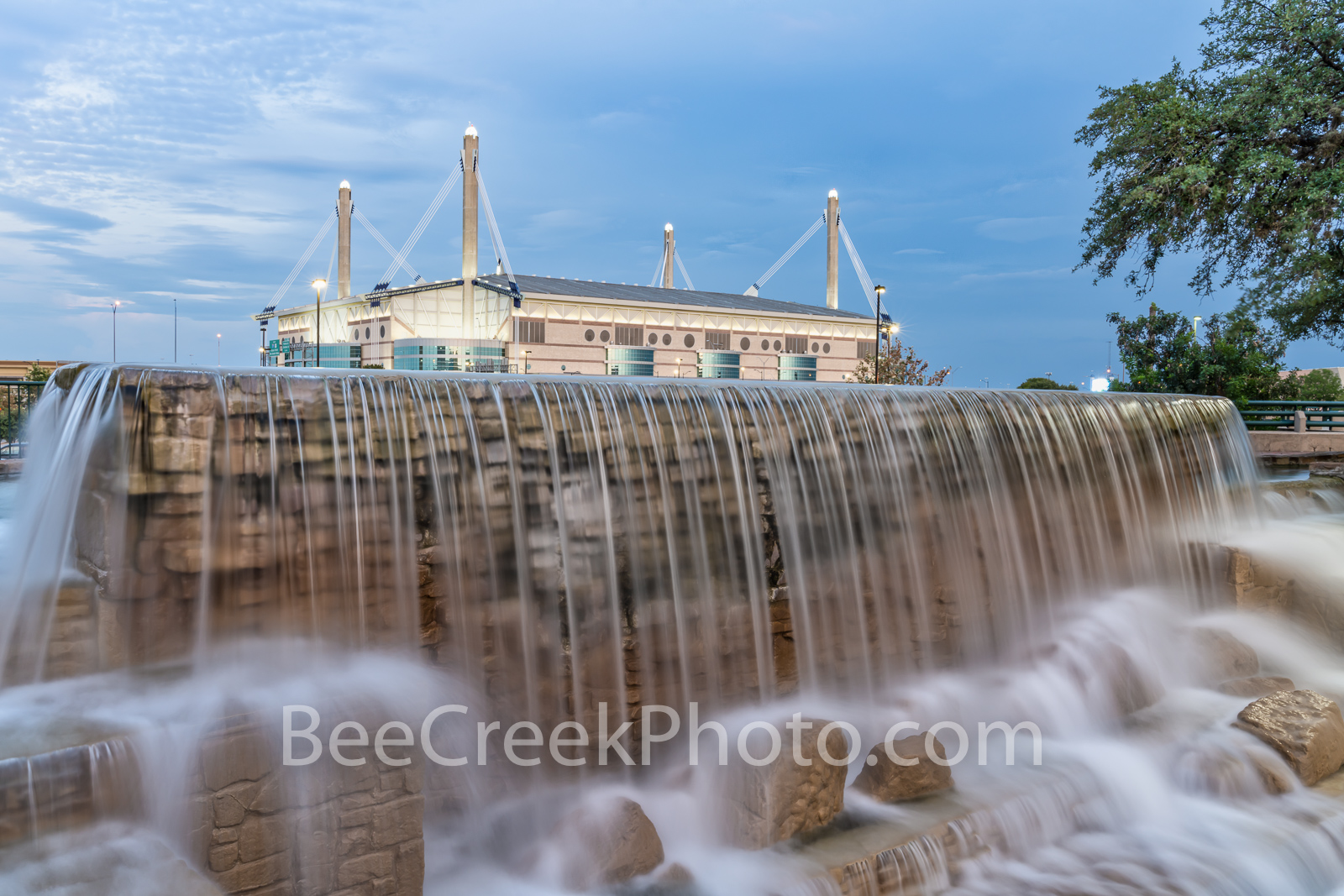 HemisFair Park San Antonio - This is one of the new water features in the Hemisphere park in downtown San Antonio. In this view...