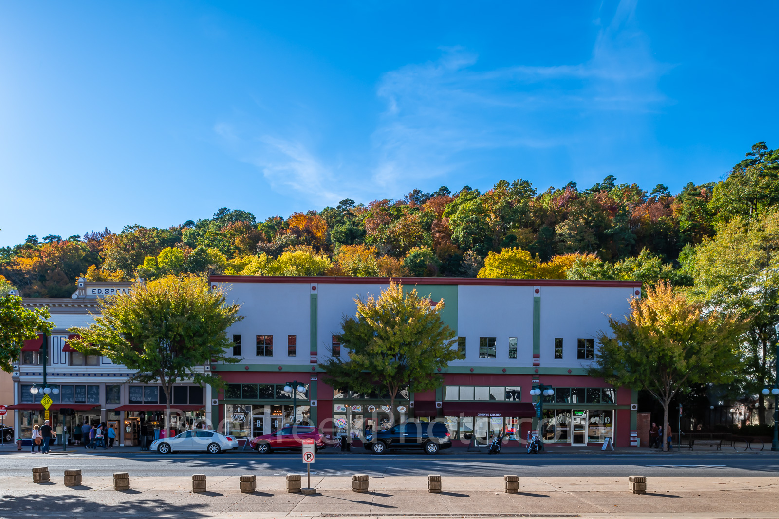 Hot Springs, Central Ave, downtown, fall, colors, bathhouse, tourist attraction, travel,, photo