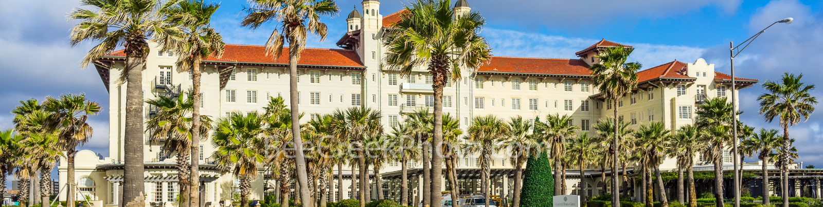 Hotel Galvez Galveston Pano - This is the historic hotel Galvez which survived the 1900 hurricane.  This hotel was built in 1911...