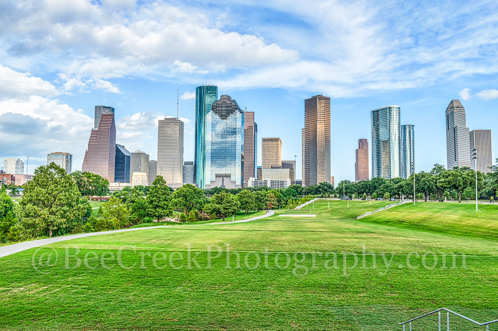 Houston Cityscape - This is one of the many parks near downtown with aHouston skylinethat towers over the park in...