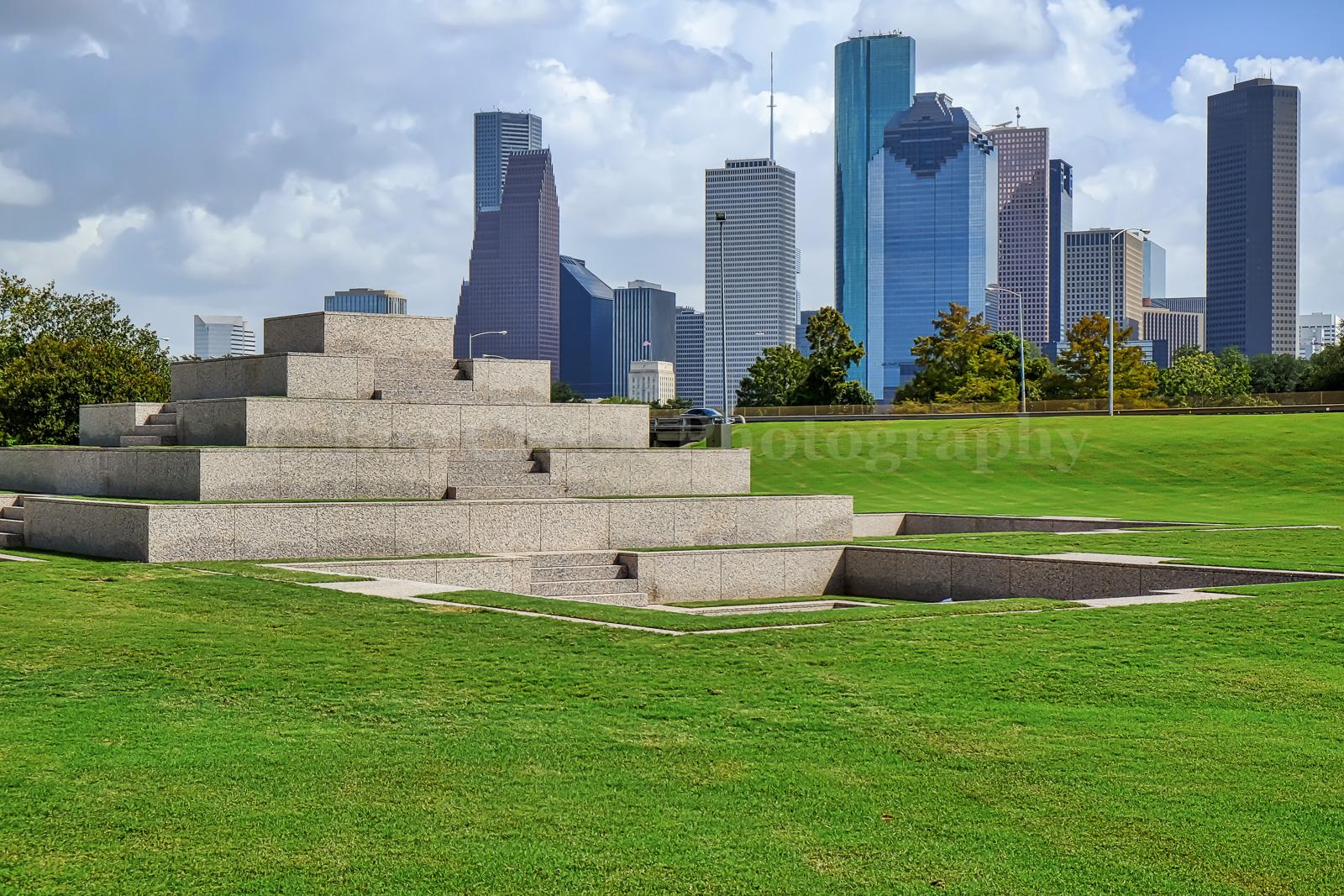 Houston, Police Memorial, Skyline, Houston skyline, monument, , photo
