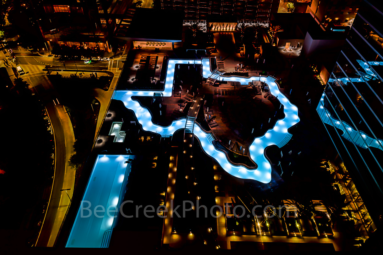 Houston, Marqui Marriot Pool. downtown, city, , photo
