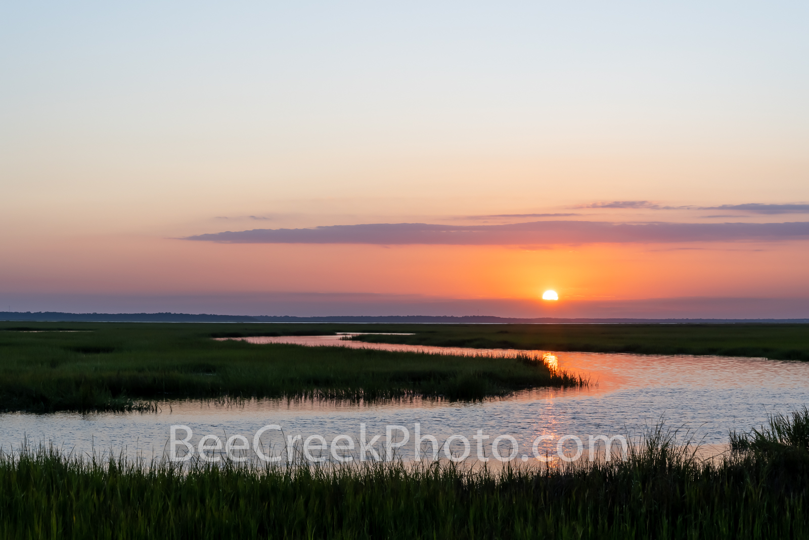 Jekyll Marshland Sunset  - We captured these wonderful marshland just outside Jekyll Island just as the sun set in the distance...