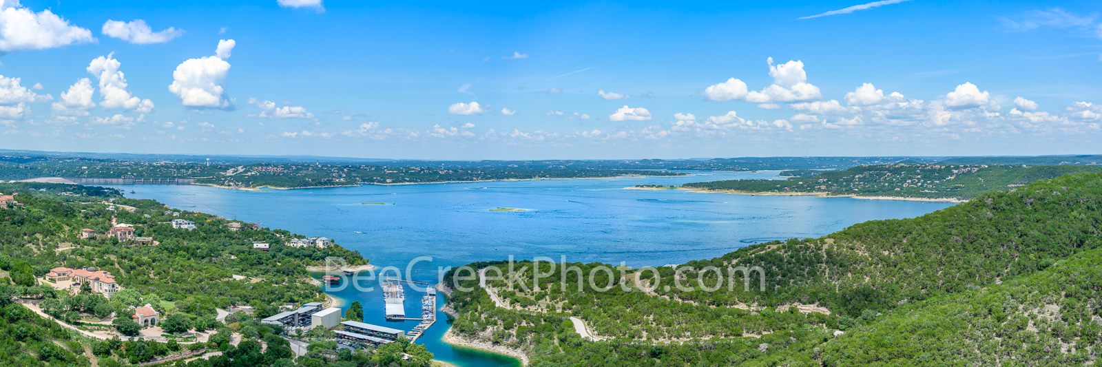 Lake Travis Aerial View Pano - This was our latest aerial view of lake travis during a beautiful blue sky day. We wanted to capture...