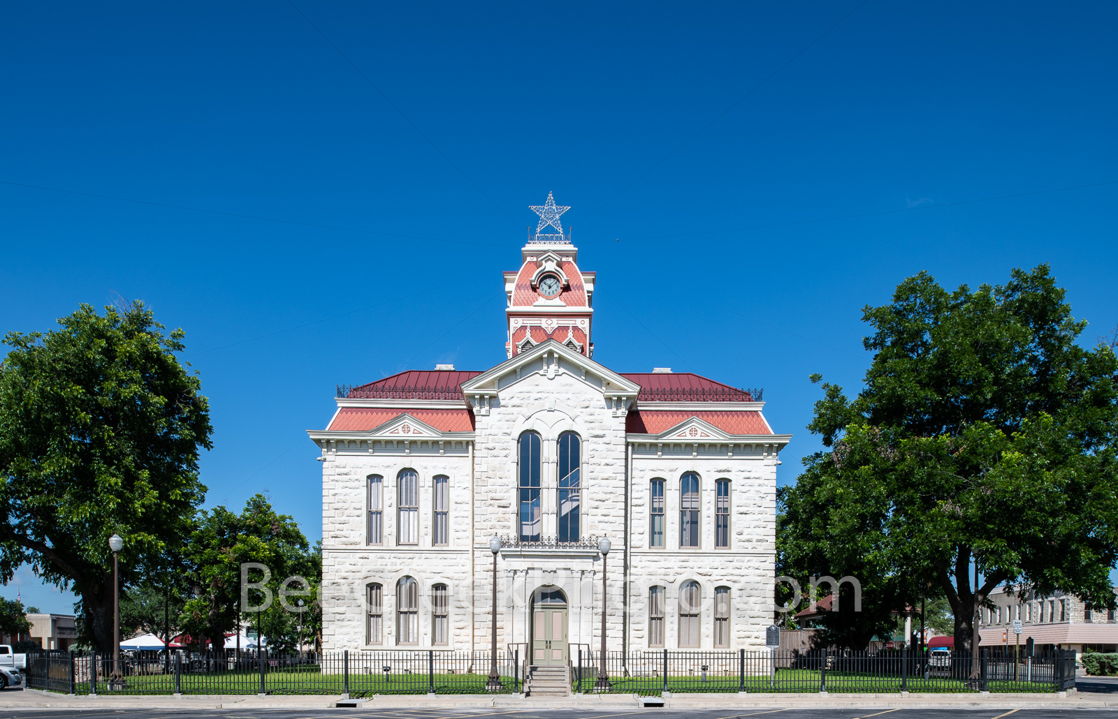 Lampasas County Courthouse - The Lampasas county courthouse was built in 1883. Lampasas County Courthouse is the third oldest...
