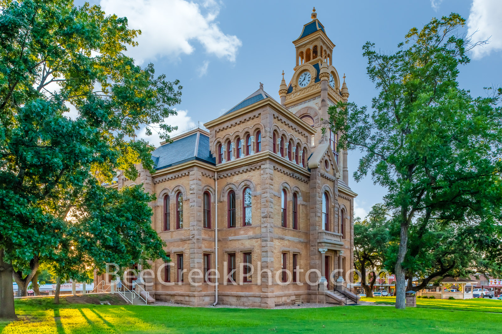 Llano County Courthouse Side View - We captured this of the Llano Country Courthouse in the late afternoon. This is one of the...