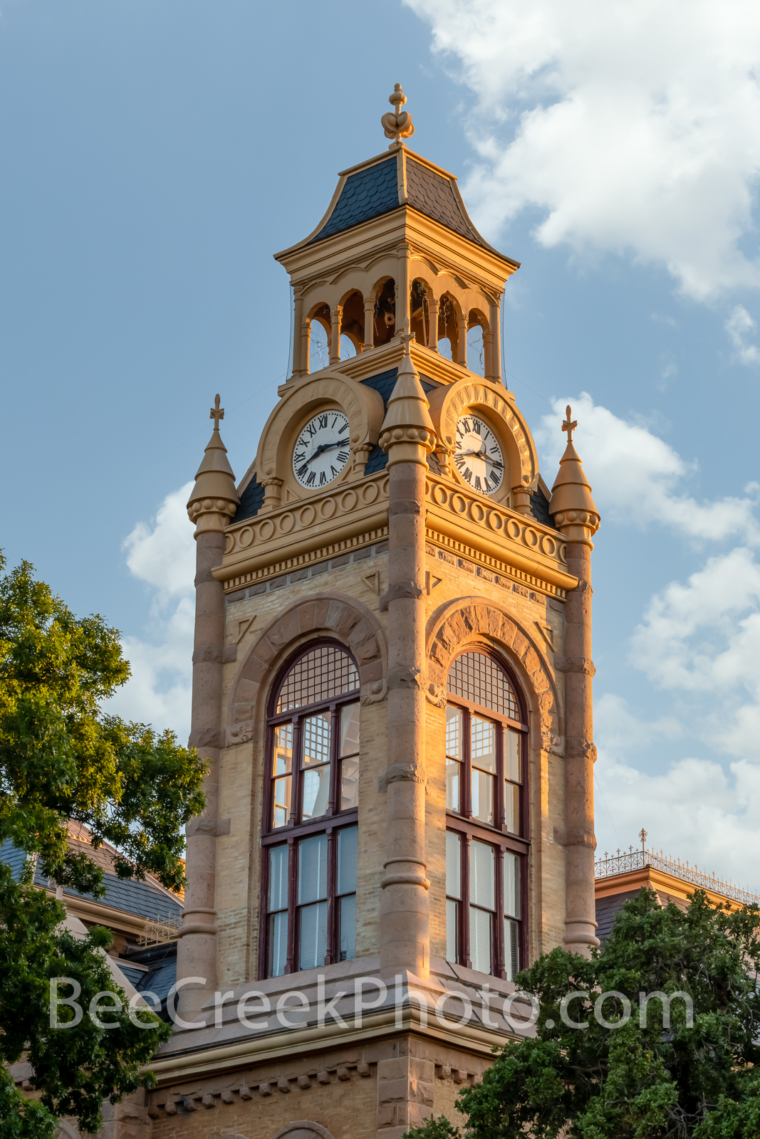 Llano County Courthouse Tower Vertical - We captured this of the Llano Country Courthouse in the late afternoon. This is one...