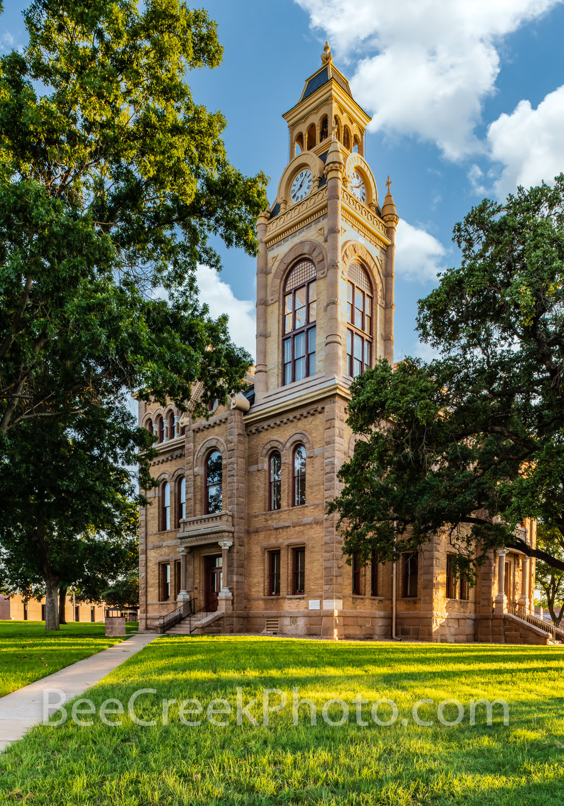 Llano County Courthouse Vertical  - We captured this of the Llano Country Courthouse in the late afternoon. This is one of the...
